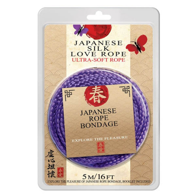 Japanese Silk Love Rope – 5 Metres Purple