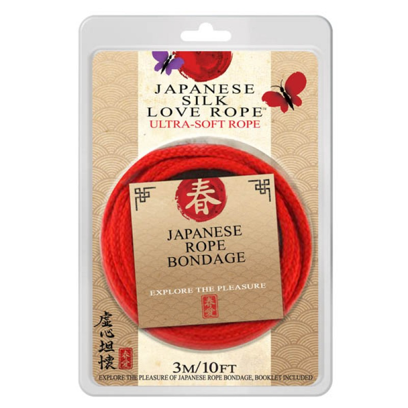 Japanese Silk Love Rope – 3 Metres Red