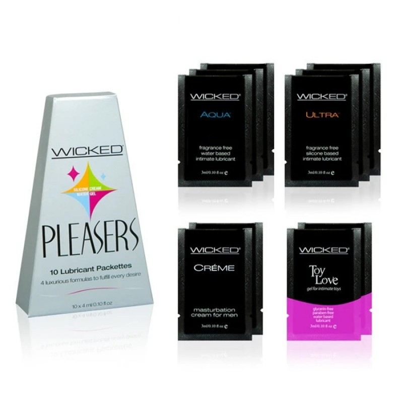 Wicked Pleasers - Mixed Lube Packettes (10pcs)