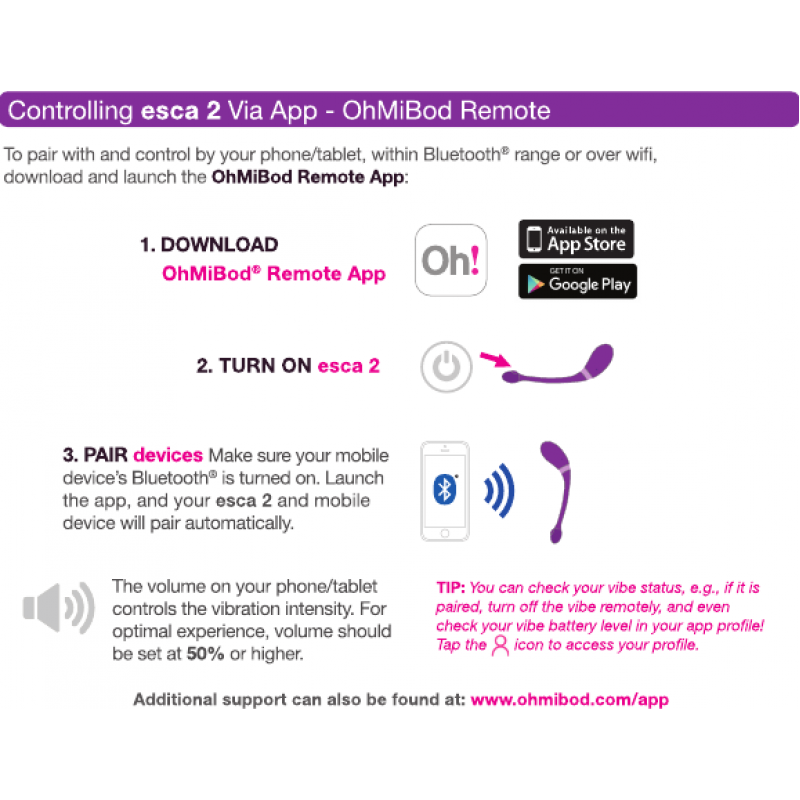 esca 2 App Controlled Wearable Vibrator by OhMiBod