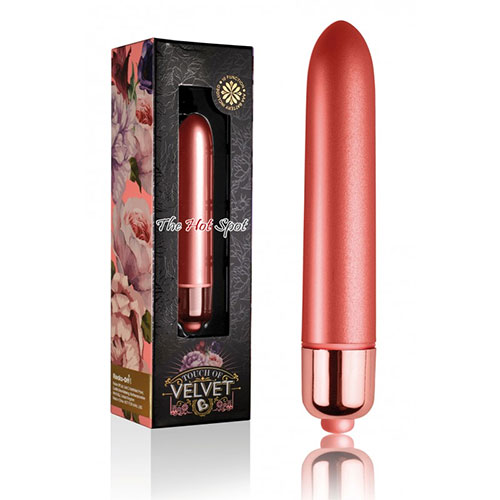 Rocks Off Touch Of Velvet Peach Blossom Bullet Vibrater