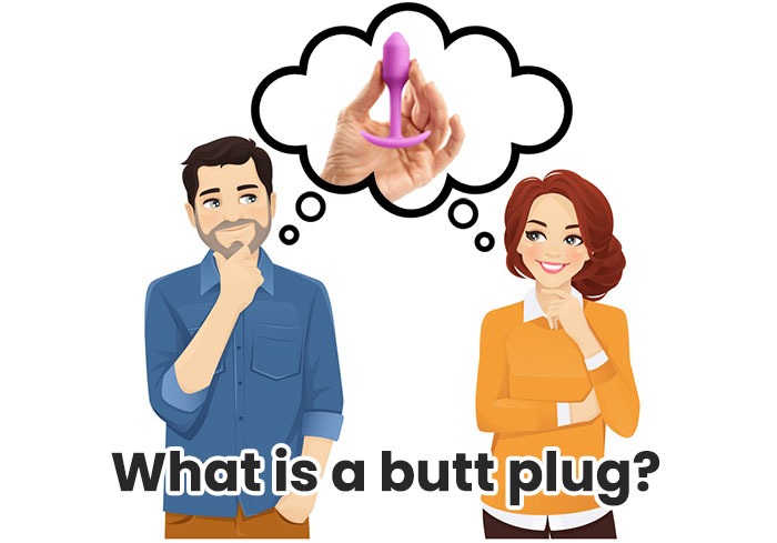 Man and woman thinking about blutt plug