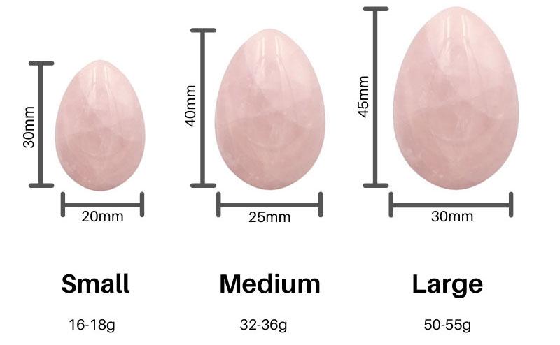 yoni egg sizes